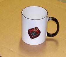NeXT Computer Logo Black Handle Mug - Small Logo 2-sided