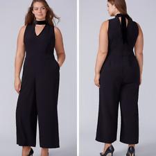 dde56494572 Lane Bryant Sleeveless Choker Jumpsuit size 26 Women s Plus Black 4x