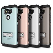 OBLIQ Skyline Advance Case Dual Layer Protection Metal Kickstand Case for LG G5