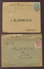 Portugal 1897-98 publicité imprimée 2 couvre... mastbaum + mange