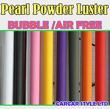 Poudre perle luster vinyle véhicule wrap autocollant 1,52 m largeur petite taille air libre