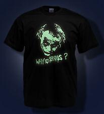 Joker T Shirt Heath Ledger Rip ¿ por qué tan grave? Batman Brillan En La Oscuridad Camiseta