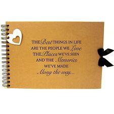 Scrapbook A5 A4 Life Friends & Love Quote, Landscape, Card Pages, Photo Album