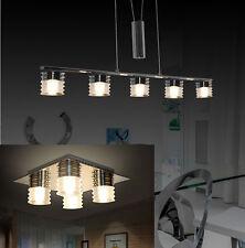 LED Plafonnier de la Lumière Pendentif 8090 CHROME réglable en hauteur 3000K