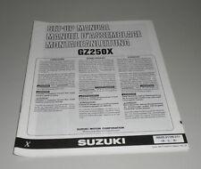 Montageanleitung Suzuki GZ 250 X Stand 06/1998