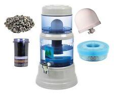 EVA Water Gravity Filter Spare Parts, Ceramic Dome, Cartridge, Mineral Tray.