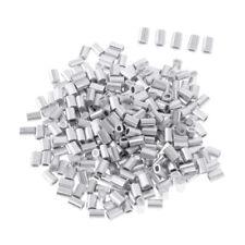 200pcs Quetschhülsen Klemmhülsen Angelschnur aus Aluminiumlegierung 1,0mm