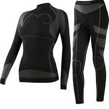 Spaio Damen Thermo Skiunterwäsche Funktionsbekleidung Set Hose + langarm Shirt