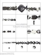 Beads JASPER STONE ~ ZEBRA Pattern ~ Natural & Color ~ Various Sizes & Styles