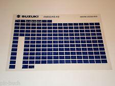 Microfich Ersatzteilkatalog Suzuki AN 650 Stand 2009