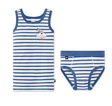 Schiesser Set Garnitur Unterhose + Unterhemd Jungen Capt'n Sharky Baumwolle NEU