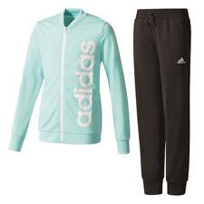 ADIDAS LINEAIRE polyester enfants SPORT- entraînement- Costume de jogging fille