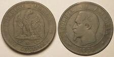 10 Centimes Napoléon III, 1855 MA Marseille Chien, Assez rare !!