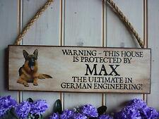 Perro señal de advertencia Cuidado con el perro pastor alemán propio nombre signo propio texto perro