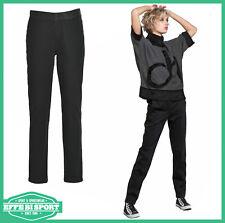 NUOVO Donna Italiana Donne elastico in vita cotone pantaloni pantaloni sportivi taglia M L XL