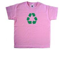 Recycling Symbol Pink Kids T-Shirt