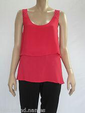 Katies Ladies Sleeveless Lace Strap Top size 12 Colour Raspberry