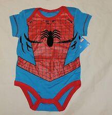 NEW Baby Marvel Spiderman One Piece Sizes 0 thru 12 M Costume Avengers Spider