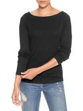 GAP Women`s Long Sleeve Boatneck Black Tee S,M, L, XL,2XL T Shirt Top Blouse NWT
