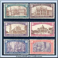 1924 Italia Regno Anno Santo n. 169/174 CENTRATI **
