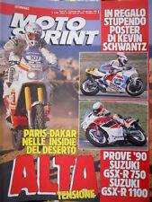 Motosprint 1 1990 Prove Suzuki GSX R 750, GSX R 1100. La Parigi Dakar in Africa