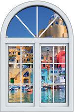Sticker fenêtre trompe l'oeil La Grèce réf 1024