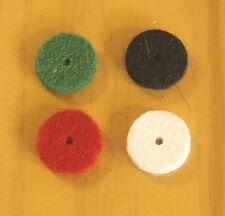 feutres pour bouton d'accordéon (par quatre) : couleur et diamètre au choix.