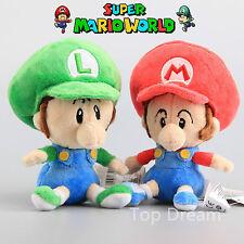 "Super Mario Bros Yoshi's Island Plush Baby Mario & Baby Luigi Soft Toy Fluffy 6"""