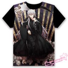 Anime Under Taker Black Butler Kuroshitsuji 黒執事 Otaku Balck Tops T-shirt Gift#49