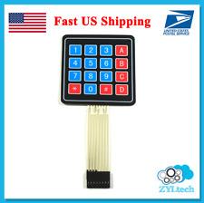 US Ship 4 x 4 Matrix Array 16 Key Membrane Switch Keypad Keyboard Arduino etc