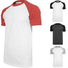 Herren T-Shirt Raglan Contrast Regular Fit Rundhals Männer Kurzarm-Shirt
