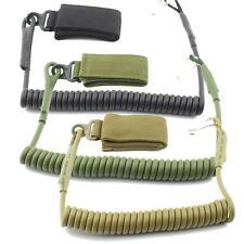 Tactical Pistol Lanyard Sling Elastic Handgun Secure Spring Retention Rope Sling