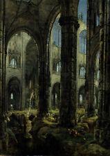 Carl Blechen: Gothic Church Ruins. Fine Art Print/Poster