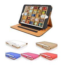 Apple iPad Mini Tan leather Wallet Smart Flip Case Cover