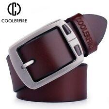 cowhide genuine leather belts for men cowboy Luxury strap brand male vintage