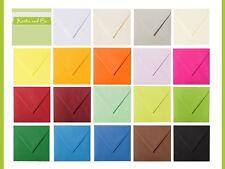 25 quadratische Kuverts Briefumschläge 110 x 110mm 120 g/qm Brief feuchtklebend