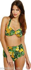 Womens Ex- Urban Outfitters High Waisted Vintage Bikini ,UK SELLER, Tropical
