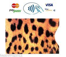 Rfid, Bloqueo paypass Ostra crédito tarjeta de débito Protector De Bolsillo Manga Panther