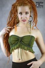 HIPPY BOOB TUBE Crop Top Bikini Corset Backed Pixie Top Size Goa 6 8 10 12