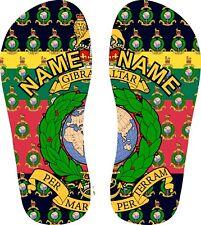 Printed Royal Marines Crested Flip Flops