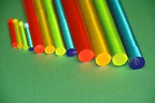 ( 7,59 €/m ) Ø 10 mm Acrylglas Rundstab Fluorescent , Länge + Farbe wählbar