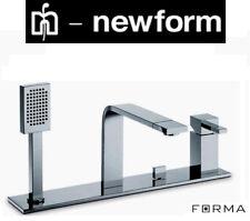 "Newform ""Forma"" 60496C D.M 4-Hole Bath/Shower Mixer w/HandShower Complete SetNIB"