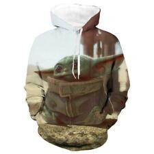 Star Wars The Mandalorian Baby Yoda Pullover Hoodie Jacket Coat 3D Sweatshirt