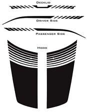 2008 - 2015 Hood Trunk Strobe Stripes Decals Graphics for Dodge Avenger 3M