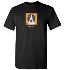 Borzoi Cartoon T-Shirt Tee - Men's, Women's, Youth, Tank, Short, Long Sleeve