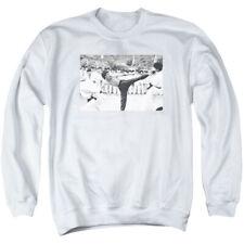 Bruce Lee Kick To The Head Mens Crewneck Sweatshirt White
