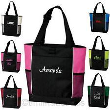 Personalized Monogram Tote Bag Bridesmaid Gift Teacher Nurse Gym Shopping Diaper
