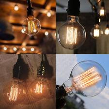 New Vintage Retro Edison E27 B22 40W 60W Filament Light Bulb G80/G95 Globe Lamps