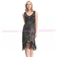 Carneval Flapper Dress Charleston Great Gatsby Party Sequin Tassel Dress 1920s