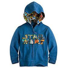 Disney Store Star Wars Zipper Front Hoodie Sweat Shirt Boy Size 5/6 7/8